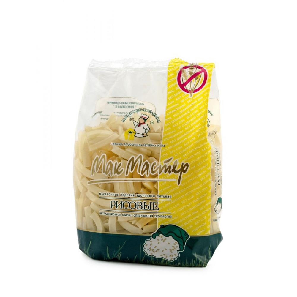 Трубочка рифленая рисовая - безглютеновые макаронные изделия 300 г