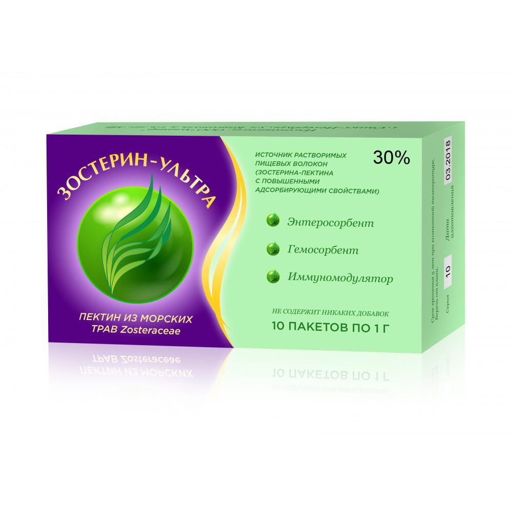 Зостерин - Ультра 30% растительный энтеросорбент (10 пак. по 1 г)